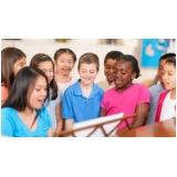 aula de canto para crianças
