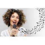 aula de canto iniciante melhor preço Praça da Arvore