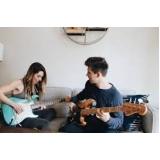 aula de guitarra com prática orçamento Bela Vista