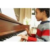 aula de piano para crianças Água Branca