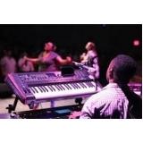 aula de teclado gospel para iniciante Santa Cecília