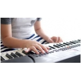 aula de teclado iniciante preços Santa Cecília