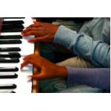 aula de teclado musical Santa Cecília