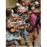 aula de violino coletiva Praça da Arvore