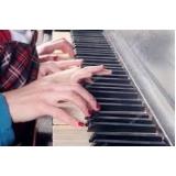 aulas de piano coletiva Praça da Arvore