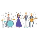 escola de musica com aula de instrumentos valores Chora Menino
