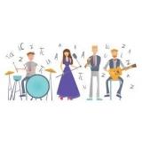 escola de musica com aula de instrumentos