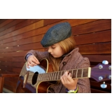 escola para aula de violão para iniciantes Jardim Bonfiglioli