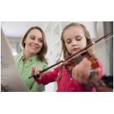 escola que faz aula de violino para crianças Água Branca