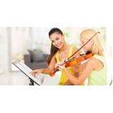 onde faz primeira aula de violino Parque Dom Pedro