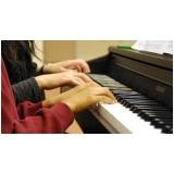 preço de aula de piano coletiva Chácara Inglesa