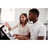 preço de aula de piano iniciante Sumaré