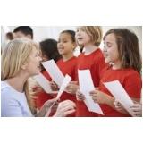 professor de aula de canto para crianças Santa Efigênia