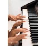 valor da aula de piano intermediário Santa Cruz