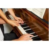 valor da aula de piano particular Praça da Arvore