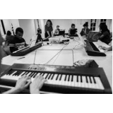 valores de aula de teclado musical Santo Amaro