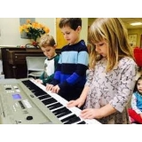 valores de aula de teclado para crianças São Domingos
